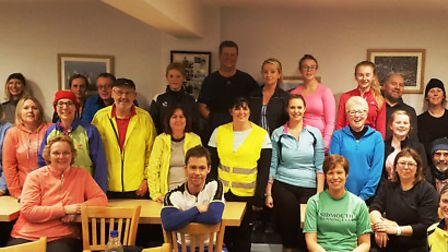 The extraordinary turnout for the Sidmouth Runing Club beginners course