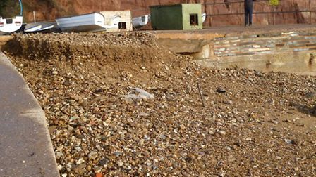 Shingle on Sidmouth's eastern beach