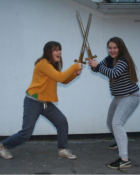 Rehearsal photos from The Princess and the Pea by Ottery Community Theatre