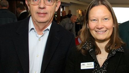 Adrian Ford and Rachel Johnston from the Sid Valley Memory Cafe. Ref shs 04-16 AW 7714. Picture: Ale