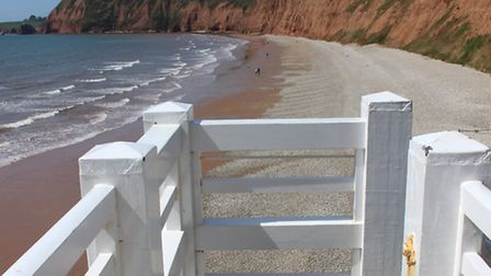 Jacob's Ladder and the beach beyond towards Lade Foot. Ref shs 18-16SH 0080. Picture: Simon Horn.