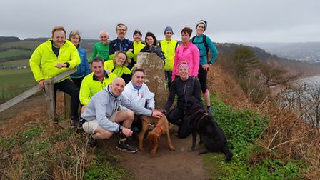 Sidmouth Running Club Four Trigs training group