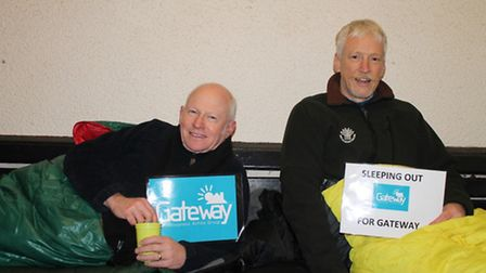 Tim Swarbrick and Roger Worthington slept rough to raise awareness of homelessness charity Gateway