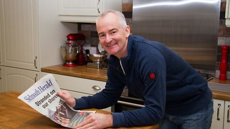 Steve Sperriet with a Napoli special edition of The Sidmouth Herald from ten years ago. Ref shs 02-1