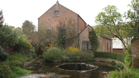 The Tumbling Weir in Ottery St. Mary.