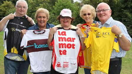 Ottery St Mary Tour of Britain party. Ref sho 36-16SH 7077 Picture: Simon Horn.
