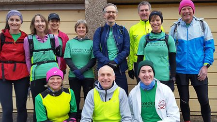 The Sidmouth Running Club members who took part in the Backdown Beast event