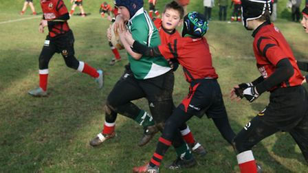 Sidmouth Under-10s in action