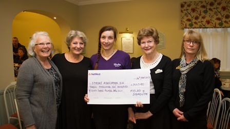 Presentation of this years cheque to The Stroke Association during the Fields FAFTAs. Ref shs 04-17T