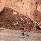 Sightseers were spotted near a recent cliff fall on Sidmouth's East Beach