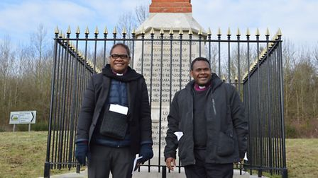 Bishops Ellison & Bishop Leonard at Patteson's Cross. Picture: Contributed