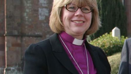 The Right Rev'd Dame Sarah Mullally, Bishop of Crediton.