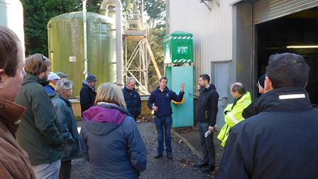 Farm managers on a behind the scenes visit to Dotton treatment works in Newton Poppleford.