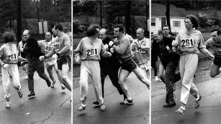 A woman, listed only as K. Switzer of Syracuse, found herself about to be thrown out of the normally