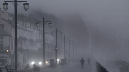 Thick mist descends on Sidmouth seafront. Picture: Eve Mathews