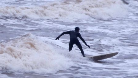 On Sunday, the rain and mist did not deter the surfers...Picture: Eve Mathews