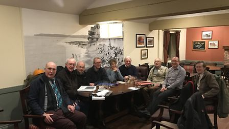 Members of the Sid Valley Links steering group at their first meeting.