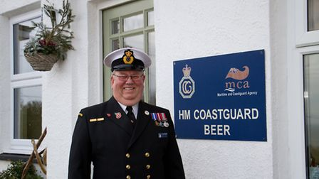 Paul Driver of Beer Coastguard. Ref shb 05-17TI 6490. Picture: Terry Ife