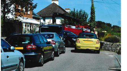 Photo showing some of the problems caused by heavy traffic between Fry's Lane and Brook Lane, Sidfor