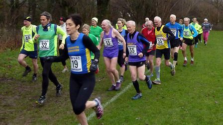 shs over 35s run 701. Picture: Chris Woodcock