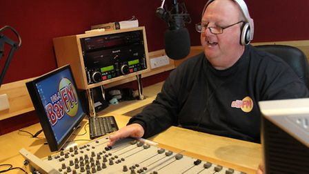 Bay FM's Andy Green at the controls. Photo by Simon Horn. Ref exf 7526-07-13SH To order your copy of