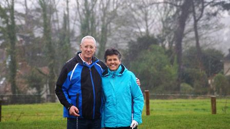 The new Sidmouth 2017 captains Richard Powell and lady captain Maria Clapp