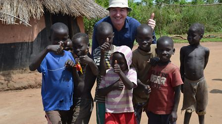 Nick Carroll on a visit to Uganda for Send a Cow