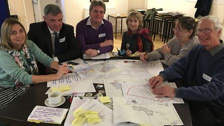 Representatives from a cross section of the community took part in a Sid Valley Neighbourhood Plan w