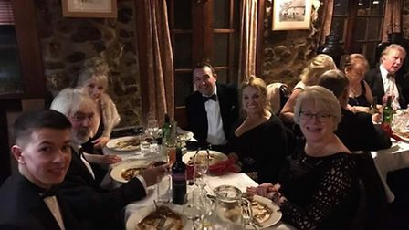 Diners enjoy a four course dinner in memory of Graham Williams.