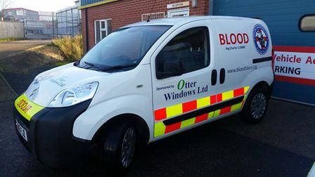 A Devon Freewheeler van was damaged following a collision on Friday. The charity is appealing for in