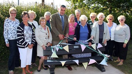 Sidford WI members pictured in 2015 at gathering to mark the centenary of the organisation in the UK
