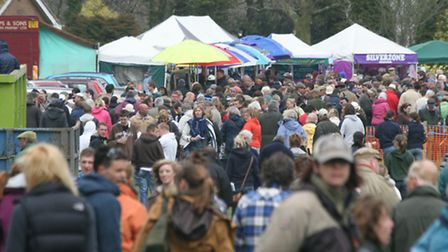 Crowds flock to point to points