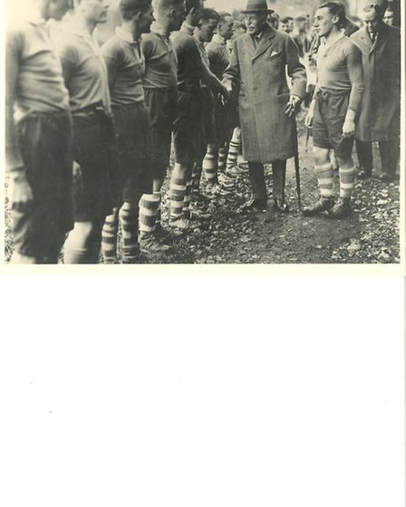 The Duke of Connaught meeting the players.
