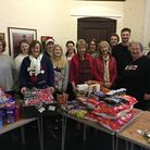 shs Sid Valley Food Bank volunteers (pictured at Christmas with food hampers for familes in need)