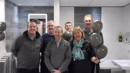 The staff at Devon Tiles celebrated 15 years in business