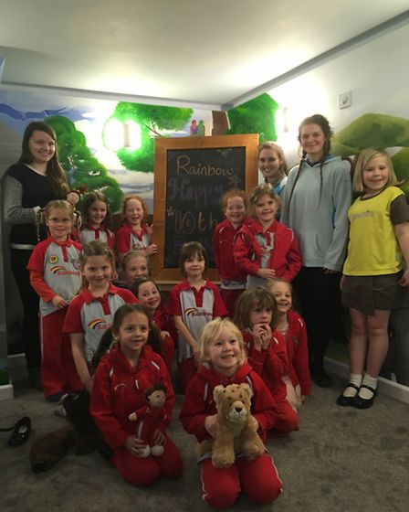 Ottery and West Hill 1st Rainbow's celebrate their 10th birthday at Tickety Boo.