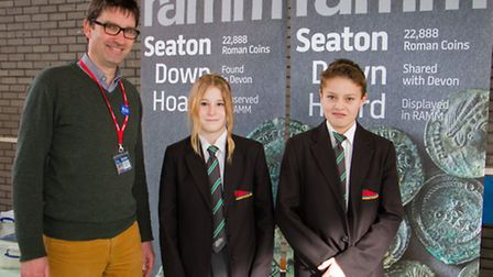 Tom Cadbury from RAMM visits Sidmouth College. Ref shs 08-17TI 7724. Picture: Terry Ife