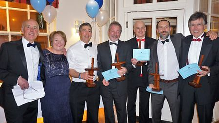 The Sidmouth Gig Club men's A crew from the Scillies World Championship received the award for the b