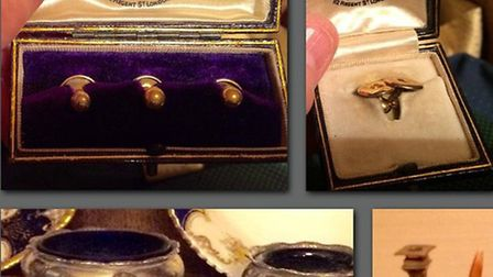 Some of the antiques stolen from a property in Colyton