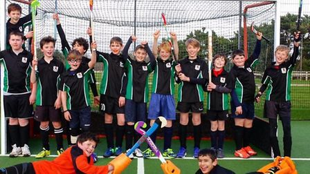 Sidmouth and Ottery Hockey Club boy's Under-12s who were in action at the final tournament of their