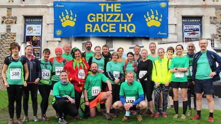 Sidmouth Running Club members who took part in the 2017 Grizzly