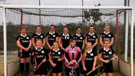 Sidmouth and Ottery Hockey Club ladies first team who are having a fine season and this weekend meet