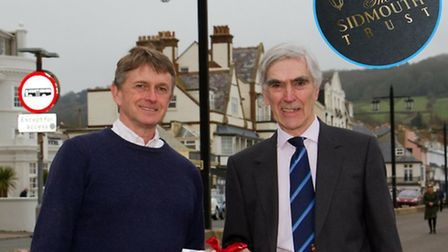 Edward Willis Fleming and John Dyson launch the new Sidmouth Trust charity.