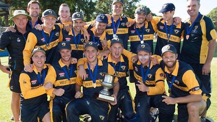 Dom (first in second row) enjoyed playing in Australia ahead of his first season at Somerset Cricket