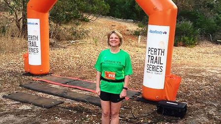 Sidmouth Running Clubs Milly 'the Marvel' Frankpitt in Wungong Dam, Australia.