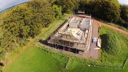 A drone's view of progress on the 1st Sid Vale Scouts' new HQ while it was being built.