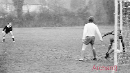 Sidmouth Town football club in action. Taken January 1972. PICTURE: Archant archives