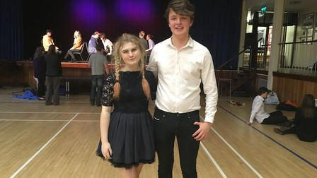 Sixth formers Millie Morris and Jack Roberts helped to organise the showcase.