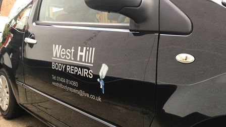 Vandals have scratched the West Hill Auto Repair car twice in the space of three months.