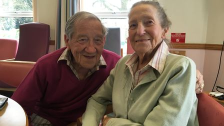 Stanley and Phyllis Goodwin celebrate 70 years of marriage.